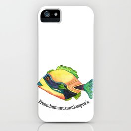H is for Humuhumunukunukuapua'a iPhone Case