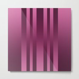 Burgundy , striped Metal Print