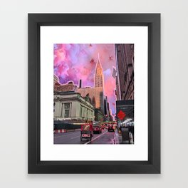 Chrysler Sunset Framed Art Print