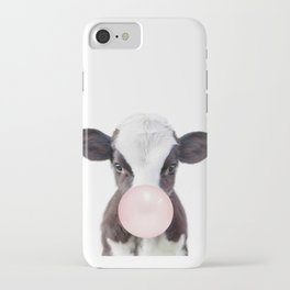 Bubble Gum Baby Cow iPhone Case