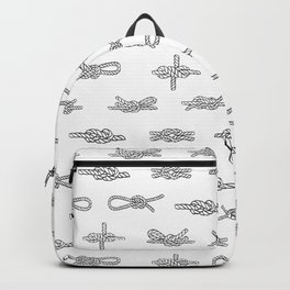 knots pattern sailing nautical knot tying illustration coastal decor Backpack