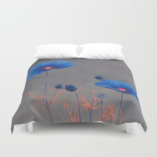 Blue flowers. Duvet Cover