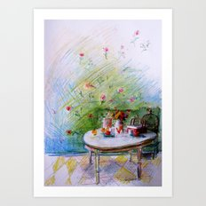 Breakfast Art Print