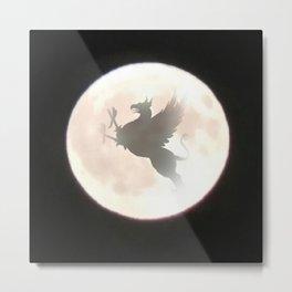 Gryphon Moon Metal Print
