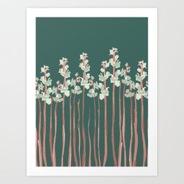 Marshmallow in Green Art Print