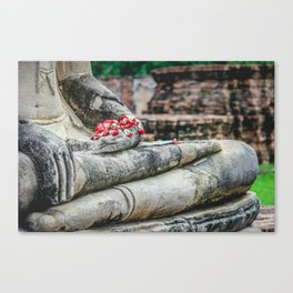Phuang Malai for the Buddha Canvas Print