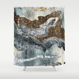 Abstract glitter wall Shower Curtain