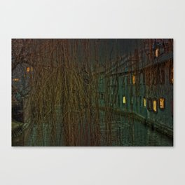 Concept landscape : Mystic mood in the city Canvas Print