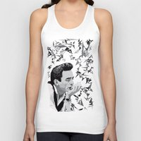 johnny cash Tank Tops featuring Johnny Cash by Iany Trisuzzi