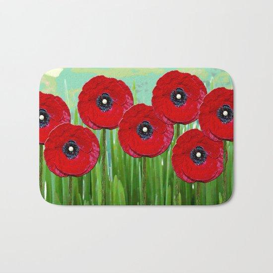 Poppies 2 Bath Mat