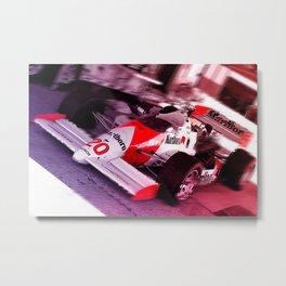 Red Speed Metal Print
