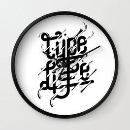 Type Life Wall Clock