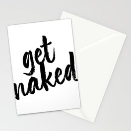 Get Naked Bold Script Stationery Cards