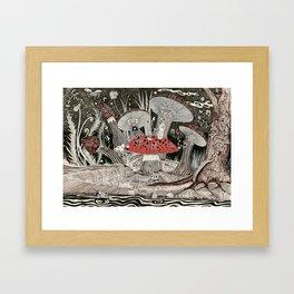 magic mushrooms Framed Art Print