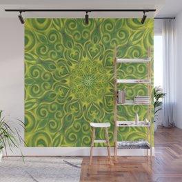 green center swirl mandala Wall Mural