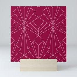 Art Deco in Raspberry Pink - Large Scale Mini Art Print