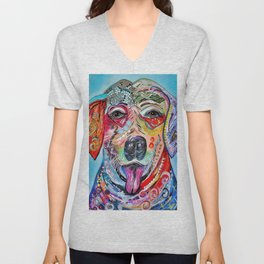 Laughing Labrador Unisex V-Neck
