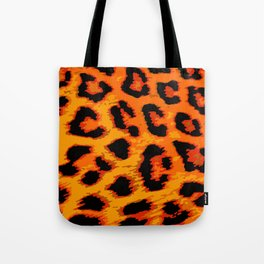 Orange and Red Leopard Spots Tote Bag