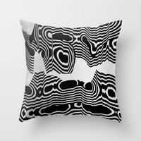 tchmo Throw Pillows featuring Untitled 20150425l by tchmo