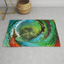 Maelstrom, captivating abstract painting Rug