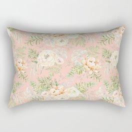 Blush pink peony bouquets pattern Rectangular Pillow