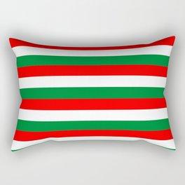 algeria Lebanon Oman flag stripes Rectangular Pillow