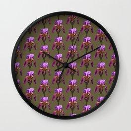 iris variations: khaki Wall Clock
