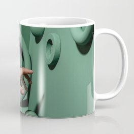 Green abstract background Coffee Mug
