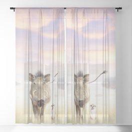 Warthog & Meerkat Sheer Curtain