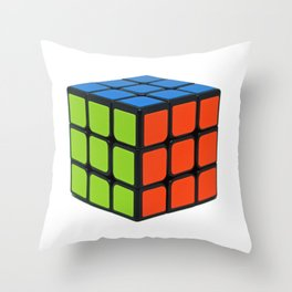 Colorful Cube Throw Pillow