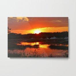 Sunset Over Calabash Metal Print