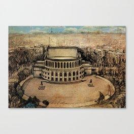 Yerevan Opera Theater Canvas Print