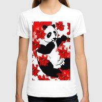 red panda T-shirts featuring Panda by Saundra Myles