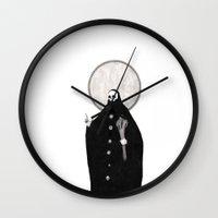 tarot Wall Clocks featuring The Tarot of Death by Micah Ulrich