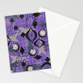 Mid Century Atomic Arrow Patterns Stationery Cards