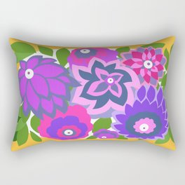 CAMBRIA, ART DECO FLORALS: OLVERA MORADO Rectangular Pillow