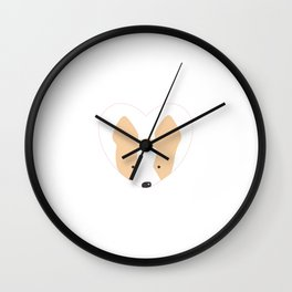 Corgi Heart Wall Clock