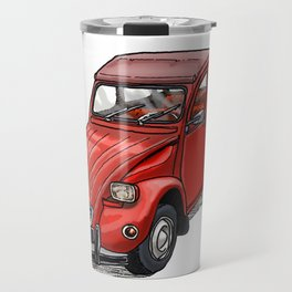 Red 2cv Travel Mug