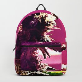 Cannabis Profile in Pink Backpack