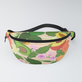 Avocado + Peach Stone Fruit Floral in Nectarine Fanny Pack