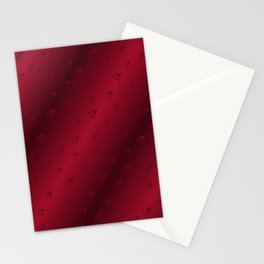 red heart shiny dark background Stationery Cards