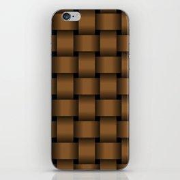 Large Brown Weave iPhone Skin