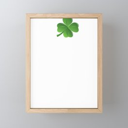 Naughty Feck Off Shamrock Irish Drunk Ireland Framed Mini Art Print