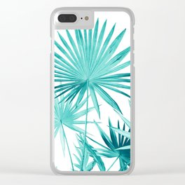 Fan Palm Leaves Jungle #3 #tropical #decor #art #society6 Clear iPhone Case