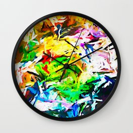 Red Eye and the Orange Moustache JVO2020 Wall Clock