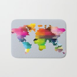 Geo World Map Bath Mat