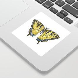 Yellow Swallowtail Butterfly Sticker