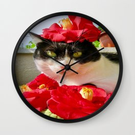 Khoshek queen of flowers Wall Clock