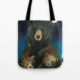 Mama Bear at Night Tote Bag