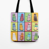 dalek Tote Bags featuring Dalek Dreams by Megs stuff...